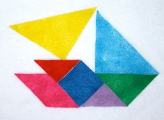Tangrams Geometric and Logic Puzzles Travel by CakeInTheMorn