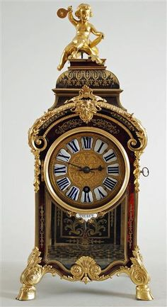 Pendulum clock:    Boulle, André Charles (generic) (cabinet maker)  Thuret, Jacques (watchmaker)    France, Boulle style, 1694-1712