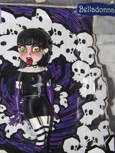 2003 Bleeding Edge Goths, series 1, Belladonna action figure #VarnerConcepts #ActionFigure