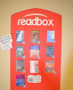 Readbox display to showcase student book trailers