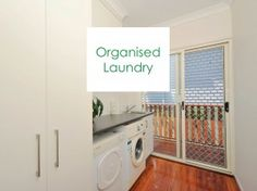 Clutter Rescue's new Organised Laundry board cover image. Stacked Washer Dryer, Clutter, Laundry Room, Storage Spaces, Home Appliances, Decor Ideas, Organization, Cover, Board