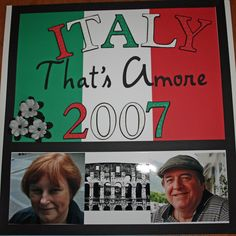 Italy Cover Page - Scrapbook.com