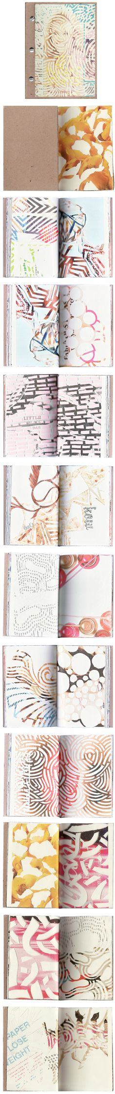 The Jealous Curator /// curated contemporary art /// sketchbook Books Art, Sketchbook Pages, Sketchbook Ideas, Sketchbook Inspiration, Paper Art, Cut Paper, Paper Cutting, Moleskine, Grafik Design
