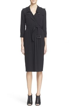 Burberry London 'Agatha' Belted Silk Dress $1,050.00  #BestPrice #fashionclothing #DesigerClothing