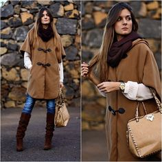 United Colors Of Benetton Cape, Persunmall Bag, Zara Boots