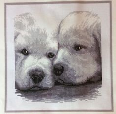 Puppy Dogs Vervaco Counted Cross Stitch Kit Buddies Black White Gray Belgium | eBay