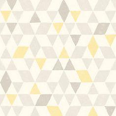 Scandi Triangles Lemon Geometric Wallpaper   Departments   DIY at B&Q