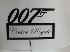 Table names or numbers. Ideal for James Bond themed party