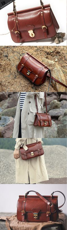 Genuine Leather Satchel bag shoulder bag for women leather crossbody