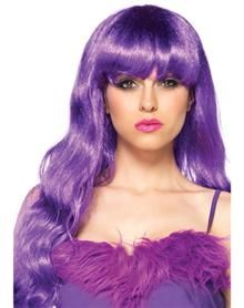Starbright Long Wavy Purple Wig for Womens Sexy Fancy Dress Costume Wigs and Ravewear Essential Hair Accessories by Leg Avenue available to buy online in the UK for next day delivery. Star Costume, Costume Wigs, Cosplay Wigs, Costume Craze, Cosplay Costumes, Purple Wig, Neon Purple, Mardi Gras, Colored Wigs