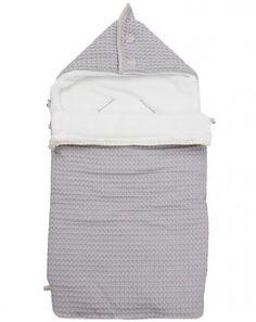 Schlafsack OSLO Teddy für Maxi Cosi in silbergrau 40x85cm