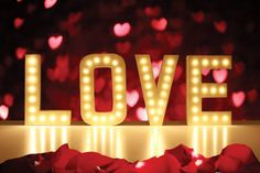 LOVE Marquee Letter Lights for Weddings
