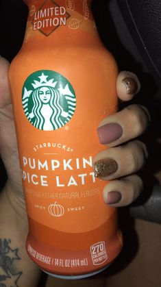 Love my new fall nails, Converted from long almond shaped to clean fall nails long - Fall Nails Starbucks Drinks, Almond Nails, Fall Nails, Pumpkin, Cleaning, Shapes, My Love, Almonds, Fall