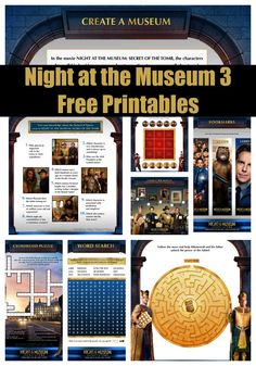 Night at the Museum: Secret of the Tomb free printables #NATM3Insiders