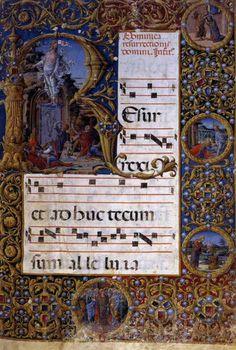 LIBERALE da Verona   Page of a choirbook  1472-73  Illuminatad manuscript, 84 x 58 cm  Piccolomini Library, Cathedral, Siena