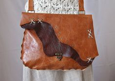 FREE SHIPPING Original handstitched  tan leather bag / cross body bag/ leather satchel / raw edge leather / boho / rustic leather