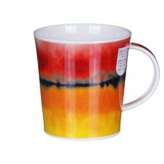 Claire Winteringham mug from Dunoon, Horizon Red Lomond Shape Mug. ( watercolor, abstract color tea )