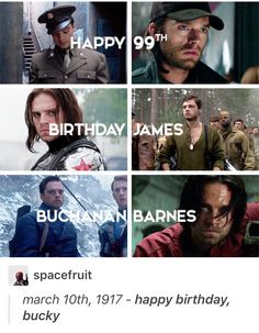 Happy Birthday Bucky. I'm pinning this even though it's late