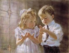 """Here's the Church ~ by Kathryn Fincher ~ """"Here's the church, here's the steeple, open the door, and there's all the people"""" :)"""