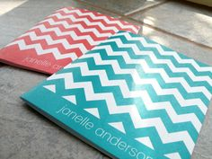 Personalized Chevron Notecards by pipersplace1 on Etsy, $4.25