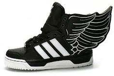 low priced 2972b aa2d6 Originals Jeremy Scott x adidas Originals JS Wings Leather Black White