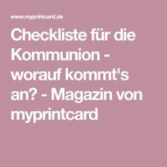 Checkliste für die Kommunion - worauf kommt's an? - Magazin von myprintcard