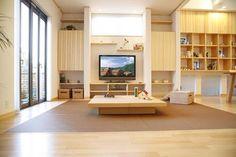 ナチュラルモダン住宅(施工例内装写真1) Modern, Interior Design, Bedroom, Wood, Furniture, Home Decor, Design Ideas, Japanese, Natural