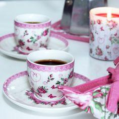 Porcelánová šapo sada, 100 ml - Růže - ModerniNakup. Espresso, The 100, Tableware, Espresso Coffee, Dinnerware, Tablewares, Place Settings, Espresso Drinks
