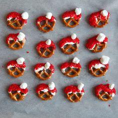 Santa Hat Pretzels using Chobani!