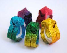 DIY Craft - origami rings you can wear - so cool! #craft #diy