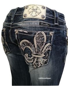 Miss Me Jeans Size 28, 30, Boot Cut Signature-Rise Stretch Blue ...