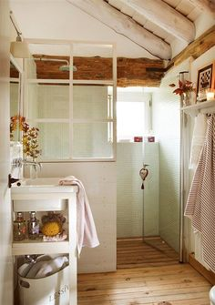 Tiny house bathroom - Looking for small bathroom ideas? Take a look at our pick of the best small bathroom design ideas to inspire you before you start redecorating. Tiny House Bathroom, Bathroom Renos, Bathroom Renovations, Bathroom Storage, Bathroom Ideas, Small Bathrooms, Bathroom Furniture, Washroom Vanity, Bathroom Gray