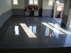 Garage floor epoxy  So if you want to paint it you need a primer and open some pore to the floor, before applying the epoxy. One that I know, very good is the tile grip of the Hempel brand. You can see here a technical file: