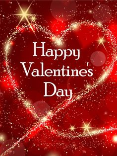 Sending my love on valentines day holidays pinterest send free sparkling heart happy valentines day card to loved ones on birthday greeting cards by davia its free and you also can use your own m4hsunfo