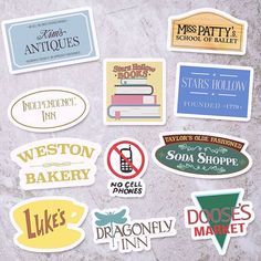 This Gilmore Girls favorites sticker set will be available at this weekend!