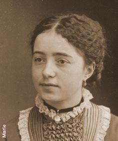 """Marie, the oldest of the Martin sisters. She became Celine's """"mother"""" after Zelie died. She was also Therese's godmother."""