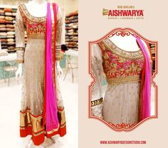 This suit is a mix of the pretty pink and red hues, Get it today at ‪#‎aishwaryadesignstudio‬ in Mumbai & Ahmedabad.– Shop online - http://www.aishwaryadesignstudio.com/