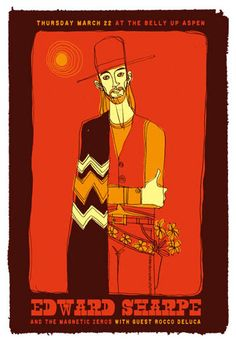 edward sharpe and the magnetic zeros   scrojo edward sharpe and the magnetic zeros poster edward sharpe and ...