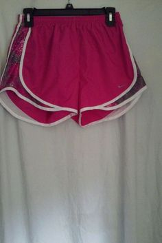 Nike Dri Fit Running Fitness Pink & Gray Shorts Junior's Size Small  #Nike #Shorts