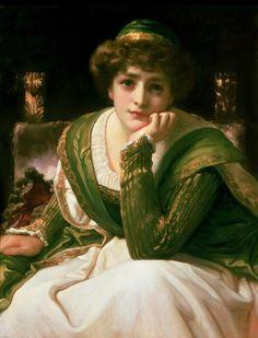 Frederic Leighton paintings | Pre Raphaelite Art: Desdemona - Frederic Leighton