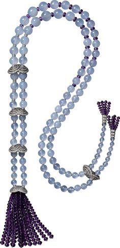 Cartier: Etourdissant collection necklace, platinum, chalcedonies, amethysts, diamonds