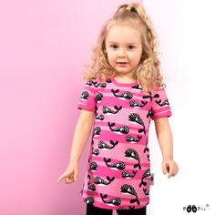 PaaPii Design VIOLA tunic, Whales Whales, Yellow Black, Tunic, Casual, Pink, Design, Dresses, Fashion, Vestidos