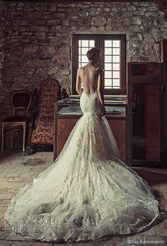 gala galia lahav spring 2017 illusion long sleeves deep vneck lace mermaid wedding dress (701) bv keyhole back long train