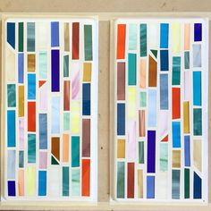 Stained Glass Mosaic Trivets Mid Century Modern Design by Debbie Bean #stainedglass