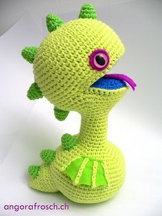 VERDI - little baby dragon by angorafrosch.ch, via Flickr.