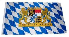 Freistaat Bayern Lion/Warning Flag With Weatherproof, 250 x 150 mm x 1 cm, 16284