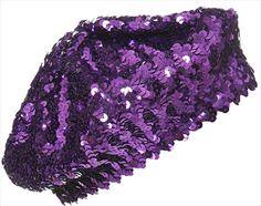 purple sequined beret