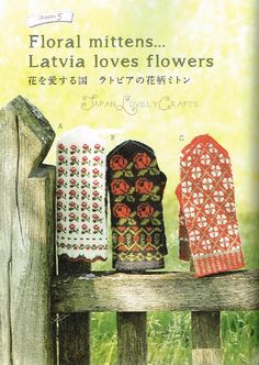 Hand Knit Mittens of Latvia - Japanese Knitting Pattern Book for Women