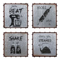 Whimsical kitchen-themed messages add charm to the industrial styling of the IMAX TY Honey Bee Wall Decor - Set of 4 . This four-piece set is ready to. Black Wall Art, Black Walls, Taupe Walls, Whimsical Kitchen, Iron Wall Art, Windmill Wall Decor, Trisha Yearwood, Wall Decor Set, Kitchen Wall Art