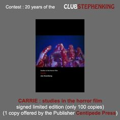 Reminder : Centipede Press is offering us a copy of the limited edition of this book for the #StephenKingContest    Link to the contest >>> http://clubstephenking.com/